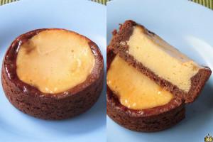 歯ごたえある生地をベースにチーズケーキとショコラケーキを組み合わせた3種の食感のタルト。