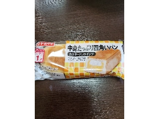 中身たっぷり四角いパン カスタード&ホイップ