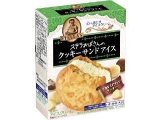 ステラおばさんのクッキーサンドアイス マカダミア