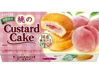 桃のカスタードケーキ