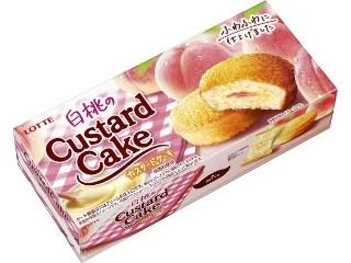 白桃のカスタードケーキ