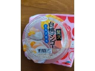 贅沢 白桃マンゴー ミルク寒天