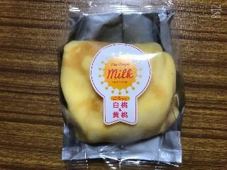 ごろっと白桃&黄桃クレープ