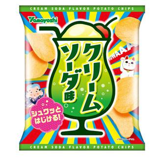 山芳製菓、ポテトチップス クリームソーダ味
