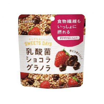 ロッテ 乳酸菌ショコラ グラノラ<いちご> モバイルパウチ