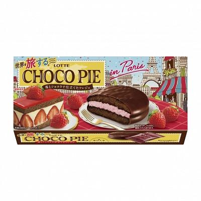 ロッテ 世界を旅する®チョコパイ<苺とショコラで仕立てたフレジェ>