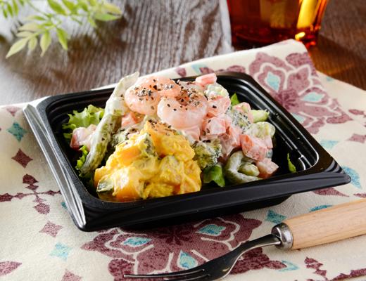 海老と1/2日分の緑黄色野菜サラダ ローソン