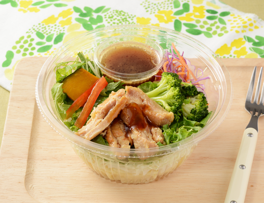 1食分の野菜が摂れる照焼チキンのパスタサラダ