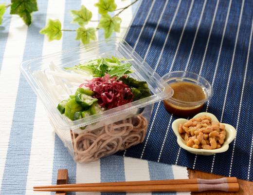 わさび香る!納豆とオクラの全粒麺サラダ
