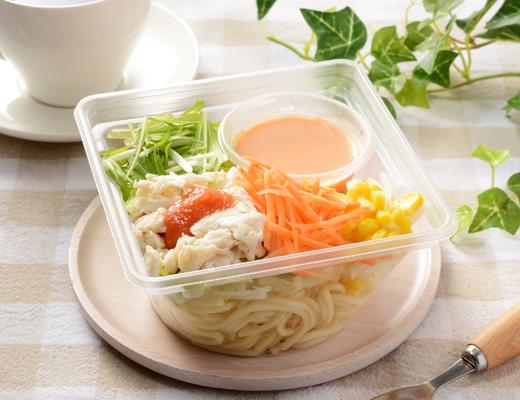 肉増量!蒸し鶏のパスタサラダ(明太ドレ)