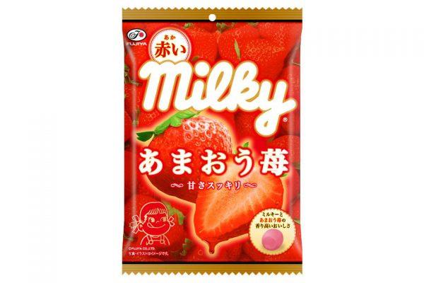 「赤いミルキー(あまおう苺)袋」