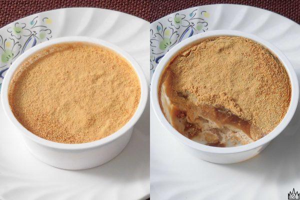 黒蜜ときなこををそれぞれ2通りに使って風味満喫できるアイス