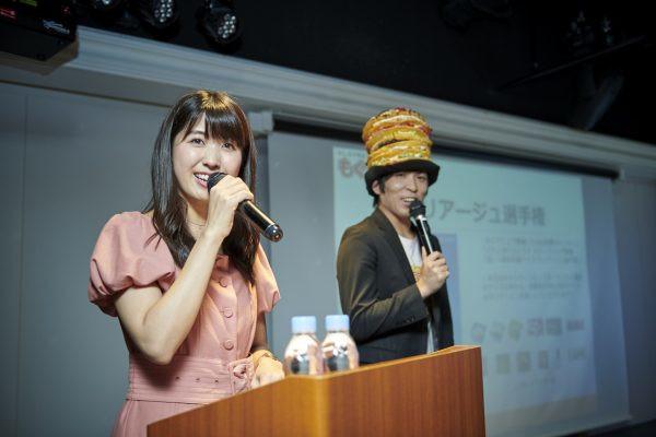 「お酒とアイスの試食会」司会・小谷津友里さん