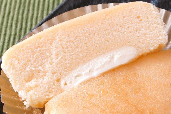きめ細かい生地の底に、白いレアチーズクリームが敷かれています。