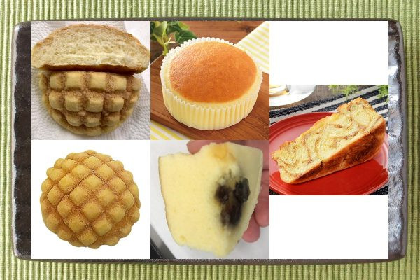 セブン-イレブン「サックサクメロンパン(欧州産発酵バター使用)」、ローソン「チーズリッチ蒸しケーキ ラムレーズン入」、ローソン「マチノパン メープルブリオッシュ」