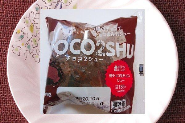 生チョコ使用ガナッシュクリームをチョコペーストを練り込んだ生地で焼きチョコを包んだパフに注入し、表面をチョココーティングしてダイス生チョコをトッピングしたシュークリーム。