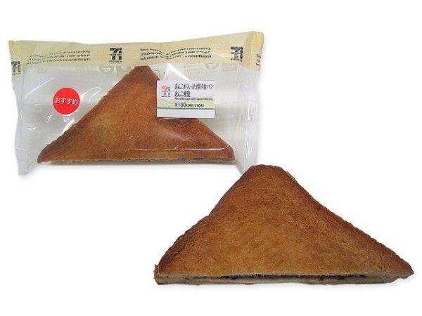 あんこを食パンで挟み、フライした揚げパン。