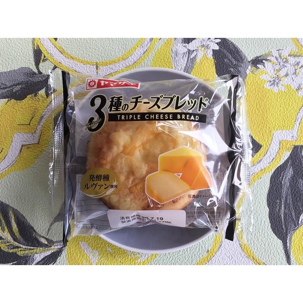 ヤマザキ 3種のチーズブレッド 袋1個